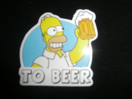 """""""too beer"""" sticker"""
