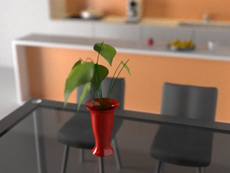 Jar, Chairs, Table in Blender