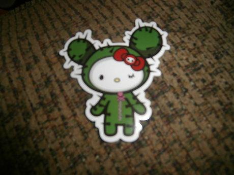 Cactus Hello Kitty Sticker