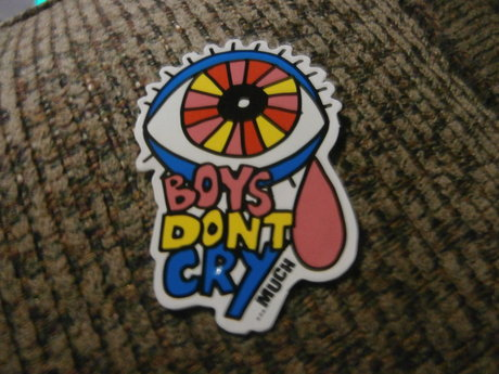 Boys don't cry much sticker