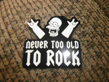Never Too Old To Rock sticker