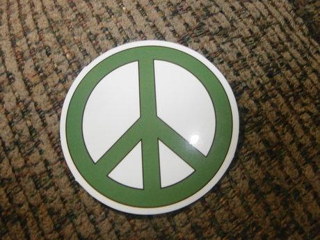 Green Peace Sign Sticker
