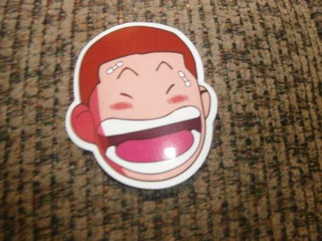 Anime face sticker