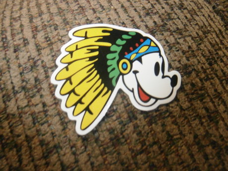 Indian Mickey Mouse sticker