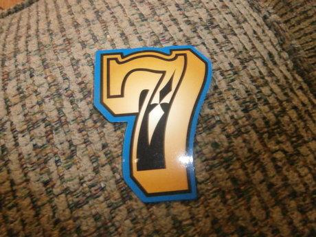 Lucky number 7 sticker