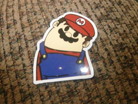 tilted Mario sticker