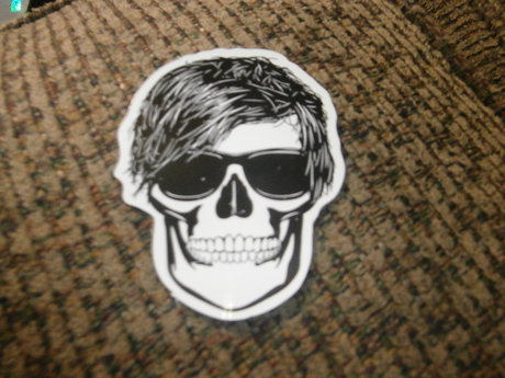 Emo Skull sticker