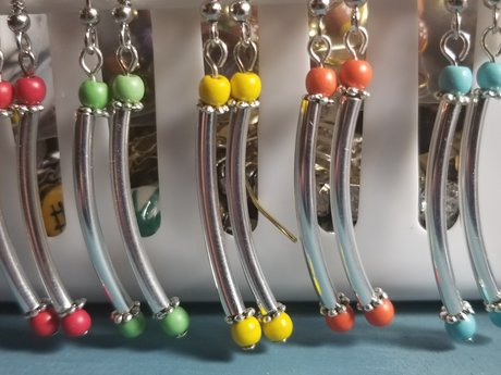 Colorful Curves Earring