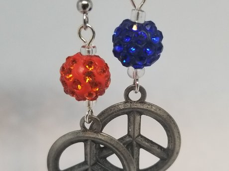 Broncos Peace Earrings