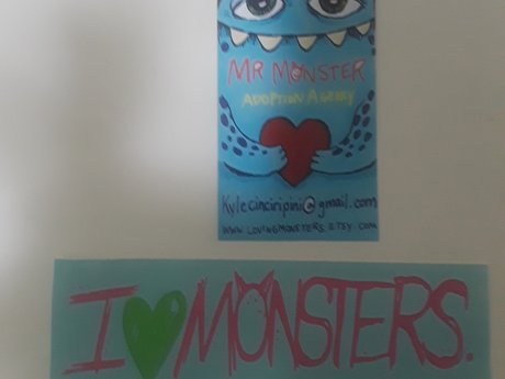 I love Monsters sticker