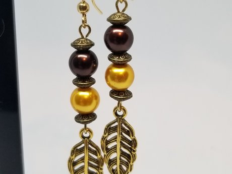 Autumn Leaf Earring Set
