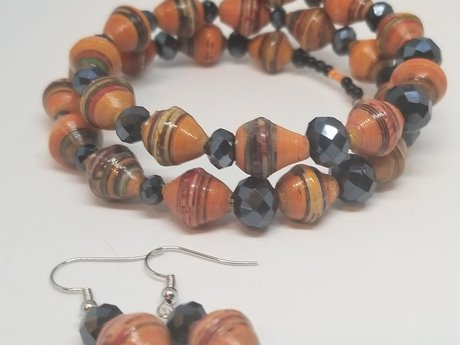 Autumn Bracelet and Earring Set
