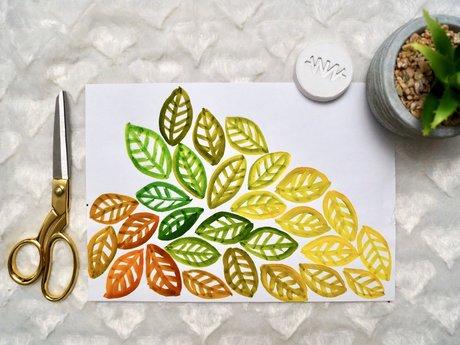 Autumn Leaves Original Painting