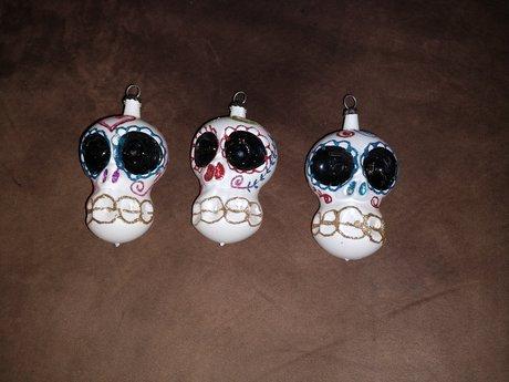 Mexican skull ornament