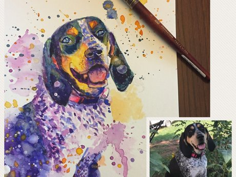Original Pet Portrait in Watercolor