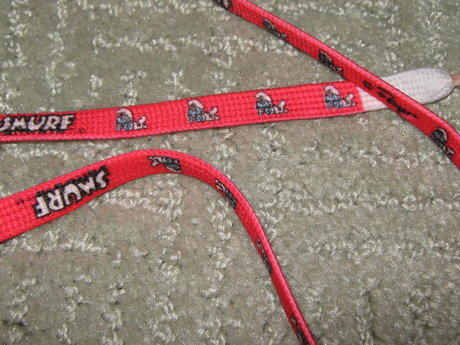 Vintage Peyo Smurf SHoe laces 36 in