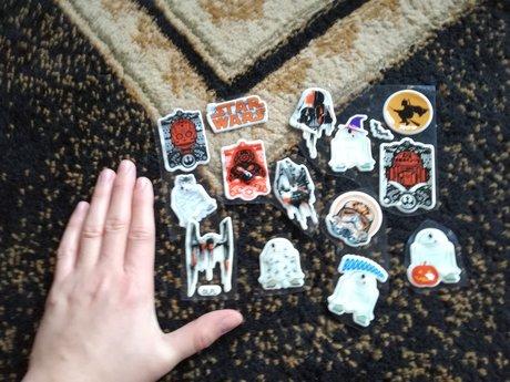 Glow in the dark Starwars Stickers