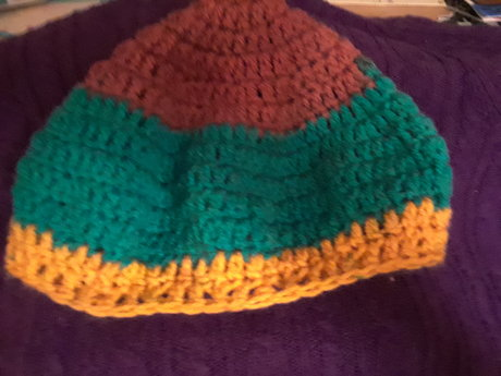 Crochet Hat - Tri Color