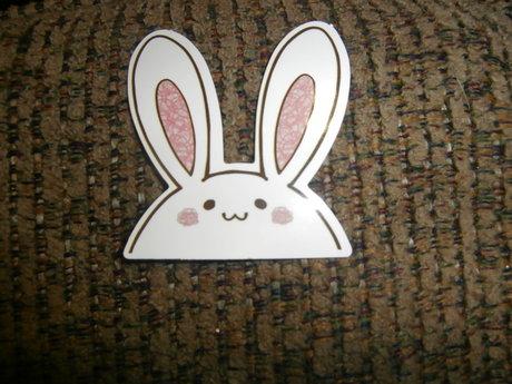 Cute Bunny Head Sticker