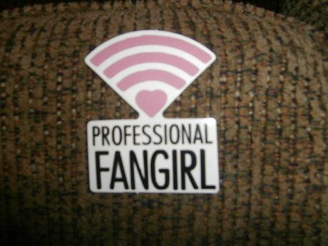 Professional Fan Girl sticker