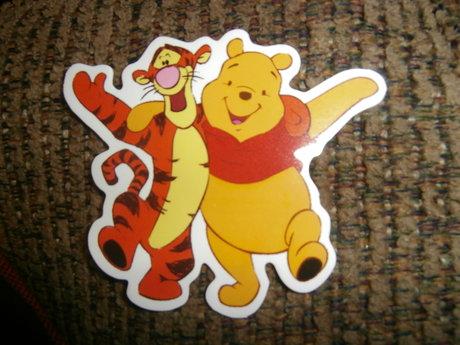 3 Winnie the Pooh stickers