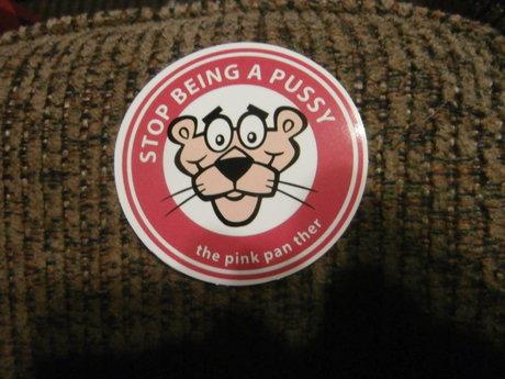 EXPLICIT Pink  Panther sticker