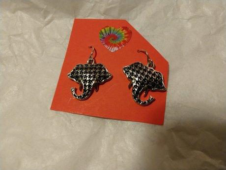 Brand new elephant earrings.