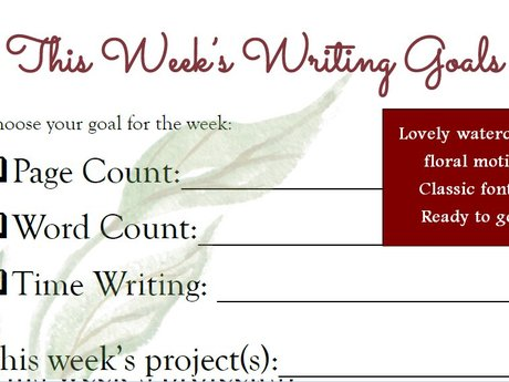 Weekly Writing Sheet - Floral