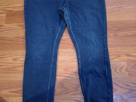 Large Jean Leggings - Gently Used