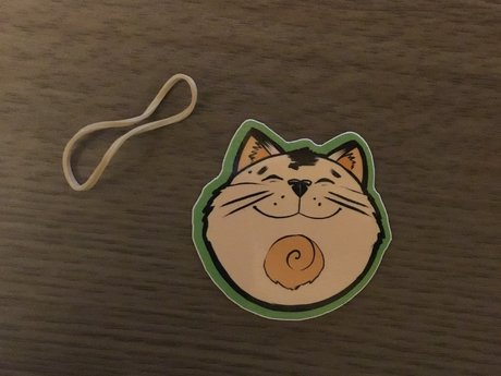 Happy Cat Face Sticker 02