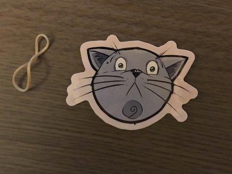 Scared cat face sticker