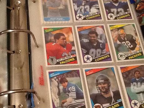 10 NFL football cards