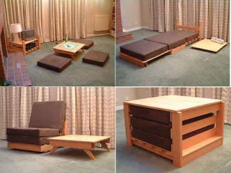 Pre-made furniture assembly