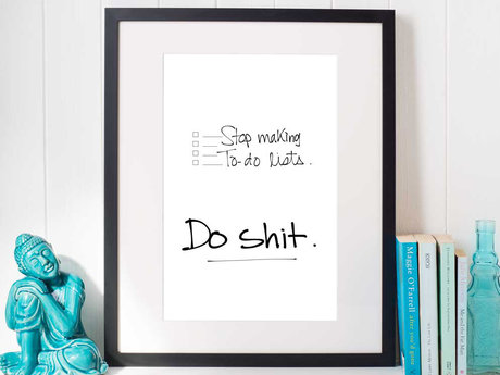 Funny motivational digital poster