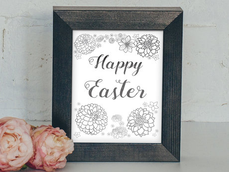 Happy Easter digital poster