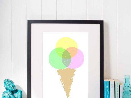 Ice cone digital poster