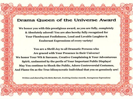 Drama Queen Award, Super Funny!
