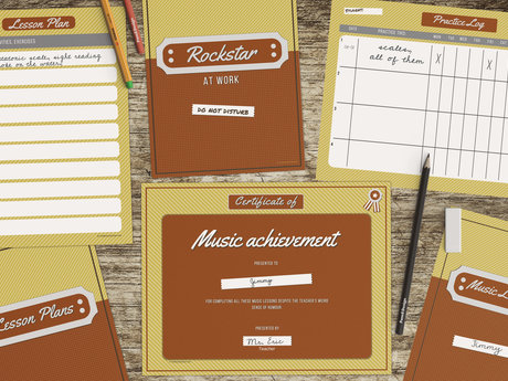 Printable assets for music teachers