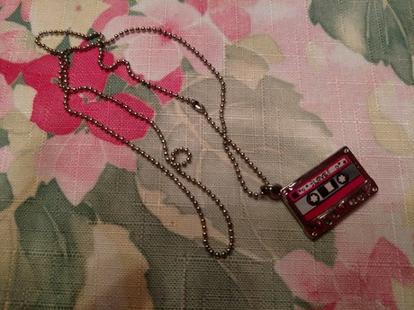 Cassette Tape Necklace - Gently Use