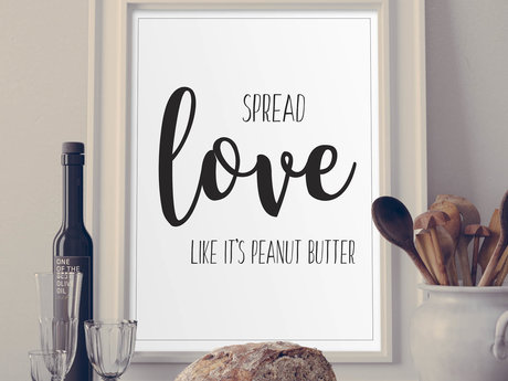 Spread love Digital poster