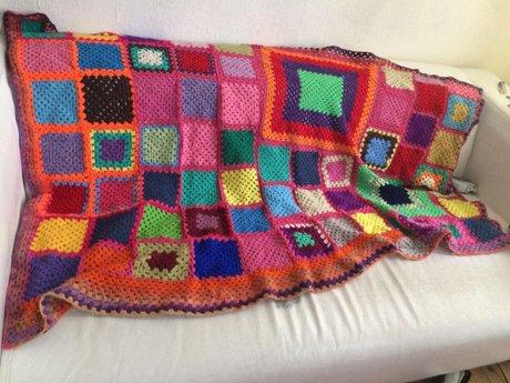 I crochet blankets, throws, etc