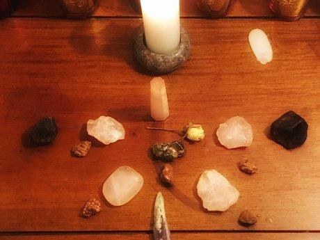 Distance Crystal Grid Healing