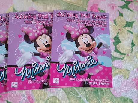 Cute 5 tiny Minnie books - party