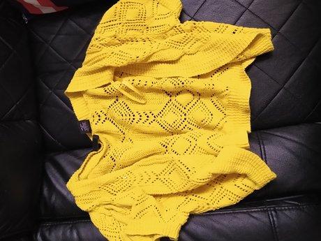 XL Yellow Light Summer Cardigan