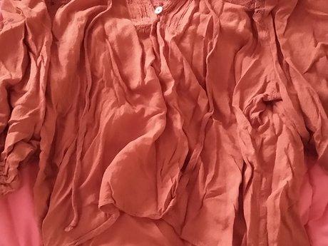 Orange Blouse / Crop Top