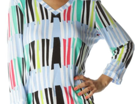 Carlisle Striped Print Top