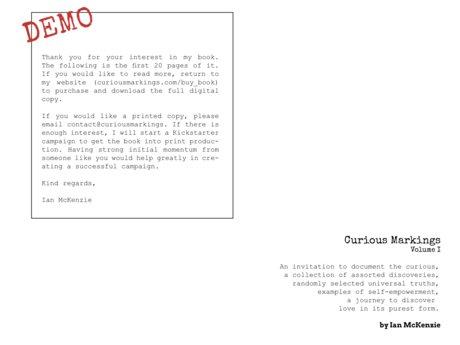 Demo: Curious Markings Vol. 1