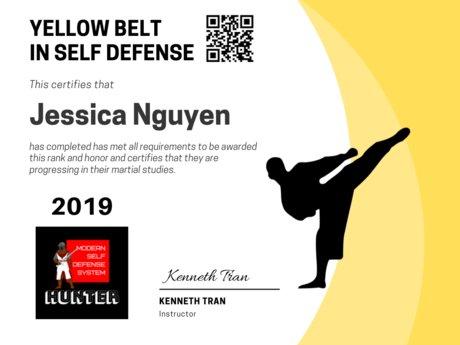 Yellow Belt in Self Defense