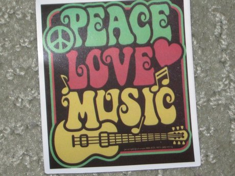 Peace Love and Music sixties rock s