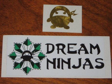 2 stickers Dream Ninjas logo and fu